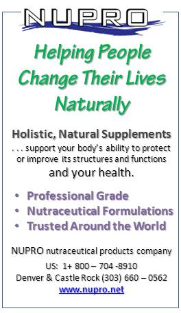 NUPRO professional grade, holistic natural supplements