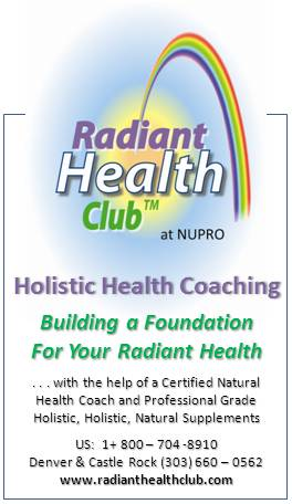 Contact the Natural Health Consultant and Radiant Health Club about a healing crisis - 1st consult is FREE